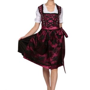 Classic Maroon Dirndl Dress Product front