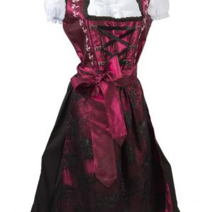 Classic Maroon Dirndl Dress