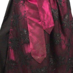 Classic Maroon Dirndl Dress skirt