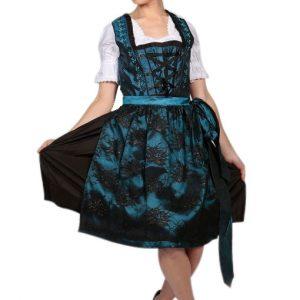 Classic Deep Blue Dirndl Dress Product Front