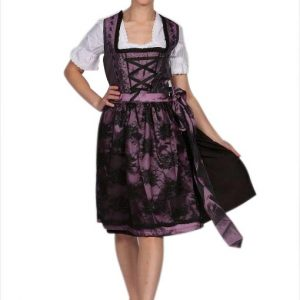 Deep Purple Vintage Dirndl Dress front