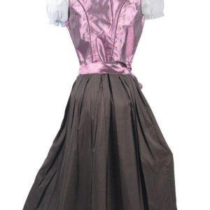 Deep Purple Vintage Dirndl Dress back