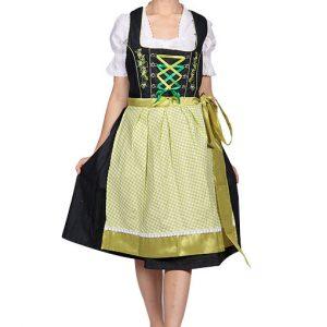 Green 2 Way Apron Dirndl Dress front