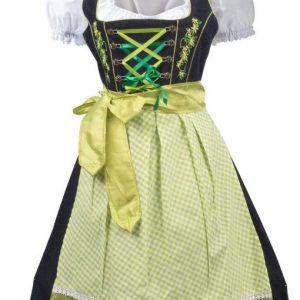 Green 2 Way Apron Dirndl Complete Dress