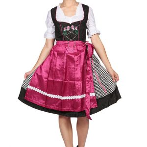 Pink Checkered Dirndl Dress Product front