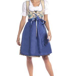 Blue Bavarian Dirndl Dress Product Front